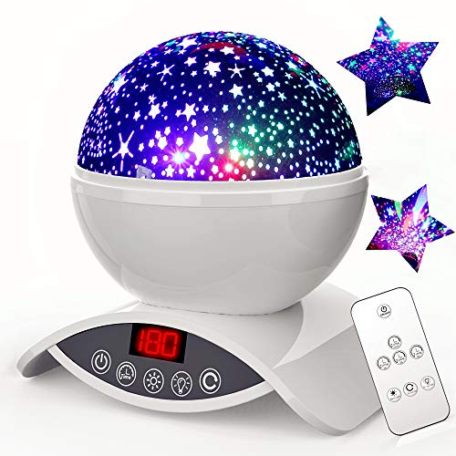 Coupon Matrix - Night Light Projector, Elecstars 8 Colours Dimmable Combinations Romantic Starry Sky Lamp, Timer Auto-Off, CM© toys for Nursery Decor, Gifts for Kids (White)