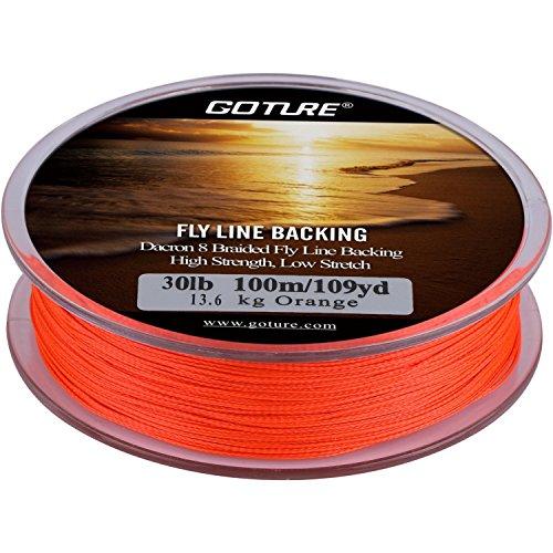Goture 8 Strand Intrecciato Fly Line Backing Trota Linea di pesca diversi colori 20LB/30LB 109YARDS
