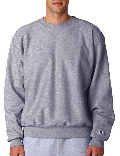 Champion Mens Comfort Rib Knit Crewneck Sweatshirt Oxford Grey (78/22)