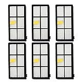 Cikuso 6pcs Filtre HEPA Pieces de Rechange pour iRobot Roomba 800 900 870 880 960 980...