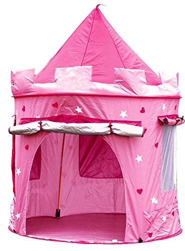 Kinderzelt, Spielzelt PRINZESSIN TRAUM SCHLOSS Burg Haus für Mädchen, im Kinderzimmer, indoor/innen/außen/draußen, Pop Up, kinderspielzelt (Prinzessin Kleinkind-zelt)