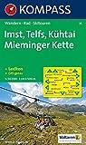 Imst, Telfs, Kühtai, Mieminger Kette: Wander-, Rad- und Skitourenkarte. GPS-genau. 1:50.000