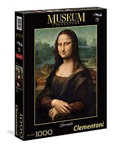 Clementoni - 31413 - Museum Collection Puzzle - Leonardo, Gioconda - 1000 Pezzi