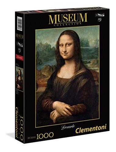 Clementoni - Puzzle Museo louvre 1000 Piezas Leonardo: La Mona Lisa (31413)