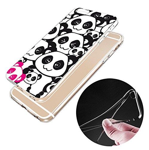 Iphone 6splus Hülle Panda Silikon TPU Schutzhülle Ultradünnen Case für iPhone 6plus/6splus panda30
