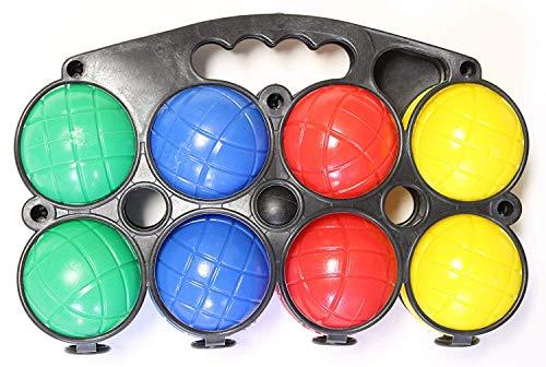 J&J's ToyScape Boccce-Ball Set mit Tragetasche - Outdoor Family Bocce Spiel für Garten, Rasen, Strand, Picknicks und Partys (Für Kinder Rasen-bowling-spiel)