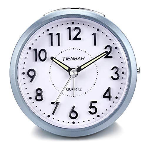 Yadelai Reise Analoge Wecker,Snooze und Licht Funktionen Morgen Uhr für Kinder Männer Frauen Home Schlafzimmer Büro Uhr (Blau)