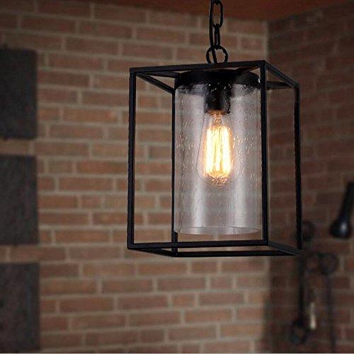 Suspensions Personnalité créatrice de fer American village style simple gouttes de pluie bulle en verre