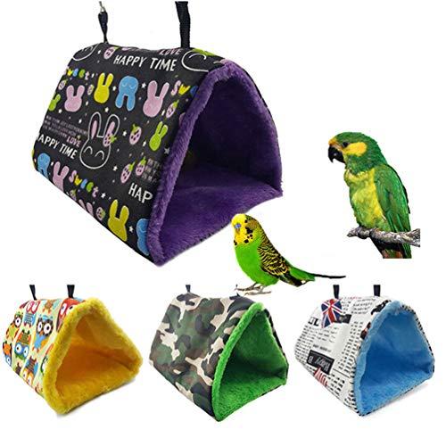 Winter Vogel Warme Nest Haus Zelt Spielzeug für Haustier Parakeet Nymphensittich Conure Afrikanische Graue Amazonas Lovebird Fink Canary Budgie Small Medium Papageien Cage Barsch (Vogel-zelt Medium)