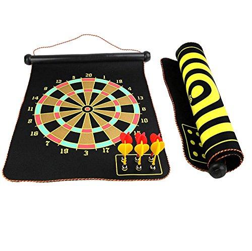 gankarii-15-safety-dart-board-game-roll-up-two-sided-reversible-bullseye-target-magnetic-dartboard-w