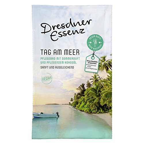 "12er Pack Dresdner Essenz Pflegebad Wellnessbad ""Tag am Meer"" 12 x 60 g, Badezusatz, Badepulver, Badesalz, Körperpflege"