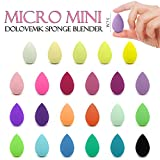 Dolovemk | 2PCS Makeup Sponges | MICRO MINI Beauty Egg Blenders 30mm | Expand When Get Wet (Latex-Free) (RANDOM COLORS OF 2)
