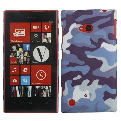 Heartly Army Style Retro Color Armor Hybrid Hard Bumper Back Case Cover For Nokia 720 Lumia RM-885 - Navy Blue