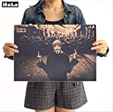 Adesivi da Parete, Retro Kraft Carta Poster,Film Vintage, Bar,Home Decor,Retro Stampa Kraft Pittura di Carta,Parete Adesivo 42x30cm