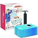 Lanchuon-Vacuum-Seal-Sacs-de-rangement-lot-de-7-DE-Petite-et-grande-taille-durable-Space-Saver-Organiseur-de-sacs-de-compression-avec-pompe--main
