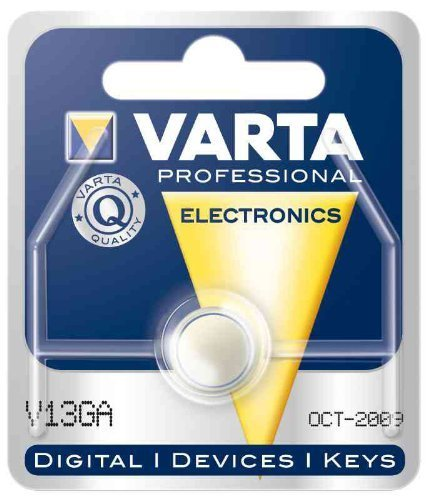 Varta V13GA, LR44, A76, 82, LR1154, 357A coin cell by