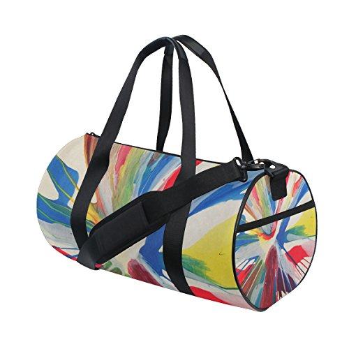 COOSUN Abstrakte Kunst Duffle Tasche Schulter-Handy-Sport Gym-Taschen für Männer und Frauen Mittel Mehrfarben