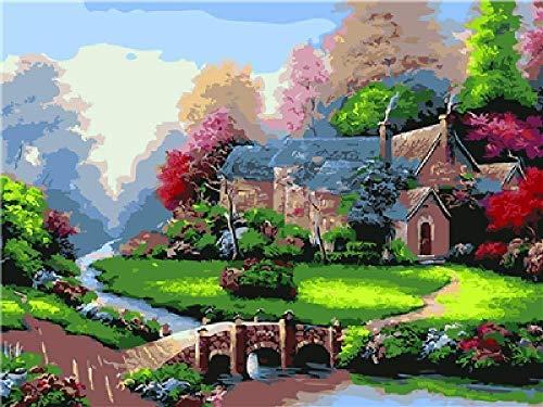 ZZPINTT 5D DIY 1000 Puzzle Berg Hut Landschaft Erwachsene Kinder kreative Spiel Weihnachten Dekoration kreative Geschenk 75x50 cm