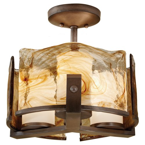 Murray Feiss Arts (Feiss SF599RBZ Aris 3-Light Indoor Semi-Flush Mount, Roman Bronze by Murray Feiss)