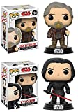 Funko POP! Star Wars The Last Jedi: Luke Skywalker + Kylo Ren – Stylized Vinyl Bobble-Head Figure Set NEW