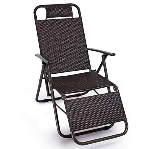 HJBH Matériau en métal + rotin de haute qualité Chaise pliante Fauteuil inclinable Bureau Chaise de loisirs Série de chaises de loisirs Série Assurance de la qualité Taille: Élevé 94CM * Largeur 47.5C