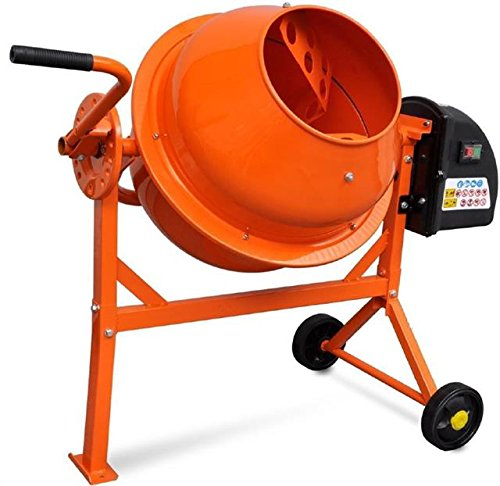 PROGEN 63L 220W 50HZ DRUM PORTABLE ELECTRIC CONCRETE CEMENT MIXER MORTAR PLASTER
