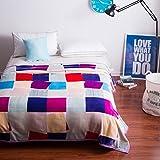 Kuscheldecken HMLIFE Herbst Und Winter Warme Decke Polyester Material Schlafzimmer Bettdecken Vier Jahreszeiten Freizeit Decken Weich Und Komfortabel (größe : 180 * 200 cm)