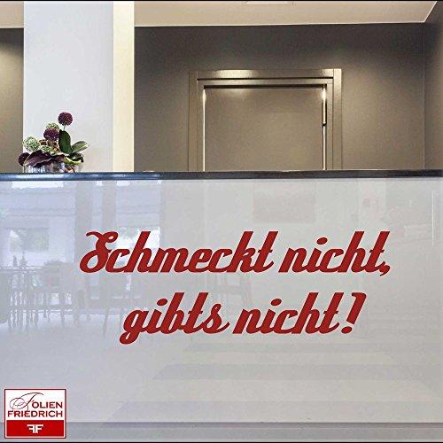 Wandtattoo W281 Schmeckt nicht, gibt's nicht! - Küche (58x21 cm) grau
