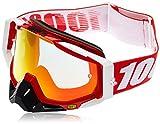 100% 50110-003-02 RACECRAFT Brille Fire Rot - Spiegel Rot Linse
