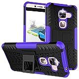 SsHhUu LeEco Le Max 2 Hülle, Premium Rugged Stoßdämpfung & Staubabweisend Kompletter Schutz Hybrid-Koffer mit Ständer Telefon Kasten für LeEco Le Max 2 (5.7