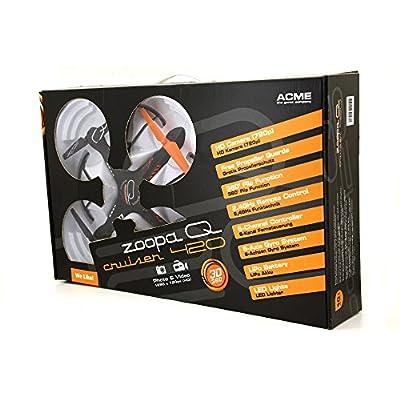 ACME - zoopa Q 420 cruiser Quadrokopter | 720p HD Cam | 6-Achsen Gyro System | 2,4GHz Fernbedienung | Propellerschutz | 360 Grad Flip (ZQ0420)