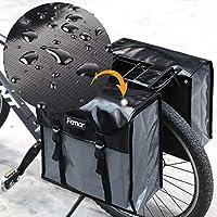 femor Doppelte Fahrradtasche, Fahrrad Outdoor hinten Sitz Bag Rücken Schulter Handtasche Schwarz