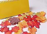 Luxbon 100 Stück künstliche Herbst Ahornblätter Wandbild Türschild Hochzeit Party Deko verschiedene Farben und Größen - 5