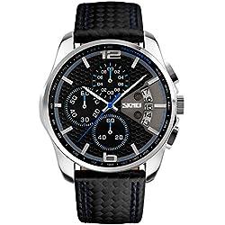 Skmei para Hombre al aire libre escalada o senderismo función de relojes deportivos 30m a prueba de agua negocio reloj reloj de pulsera para hombre