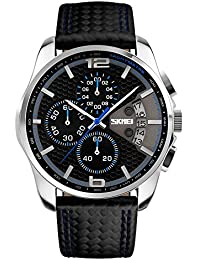 Skmei Homme extérieur d'escalade ou randonnée montres Fonction Sports 30m Water Proof Business Watch Montre bracelet pour homme bleu