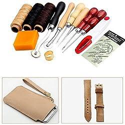 13 Kit de Costura de Cuero Herramientas del artesanía Arte Groover kit de artesan a en cuero Biselador punzan cortador del sacador
