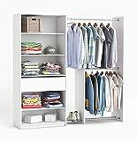 habeig RIESIGER Kleiderschrank #2354 begehbar offen Garderobe Schrank Regal Schublade