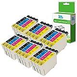 InkJello Kompatibel Tinte Patrone Ersatz für Epson Stylus CX4300 D120 D5050 D78 D92 DX400 DX4000 DX4050 DX4400 DX4450 DX5000 DX5050 DX6000 DX6050 DX7000F DX7400 S20 S21 SX100 T0715 (B/C/M/Y, 24-Pack)