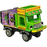 Handmade Colorful Push And Pull Toys Wooden Truck Vichile For Kids And Home Decoration Purple Height 4 Inch By Fine Craft India