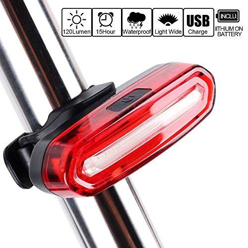 Fahrrad Rücklicht, Ultra Hell LED USB Wiederaufladbare Wasserdichte Fahrradrücklicht Lichter mit 6-Modi-Optionen Geeignet für Helm und Fahrrad Reitrucksack Easy Install & Quick Release (Rot Weiß 1#)