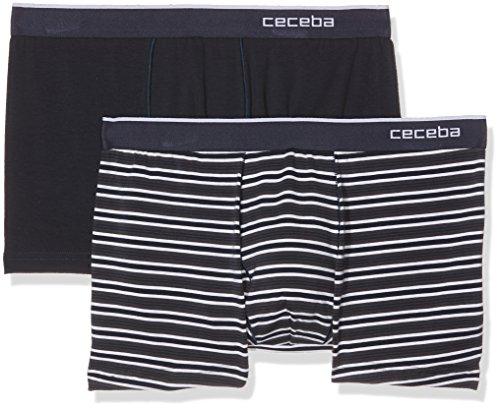 Ceceba Herren Shorts, 2er Pack Blau (blue-dark-solid 630)