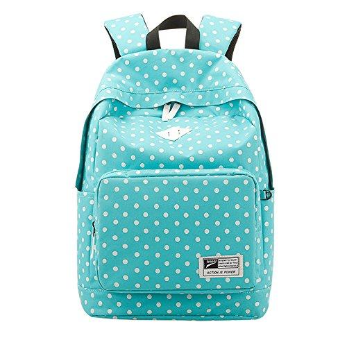 nia-de-lunares-vintage-el-mochila-de-la-mujer-nia-moda-escuela-bolsas-para-adolescentes-azul