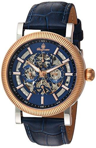 Burgmeister Armbanduhr für Herren mit Analog Anzeige, Automatik-Uhr und Lederarmband - Wasserdichte Herrenuhr mit zeitlosem, schickem Design - klassische Uhr für Männer - BM221-333 Omaha