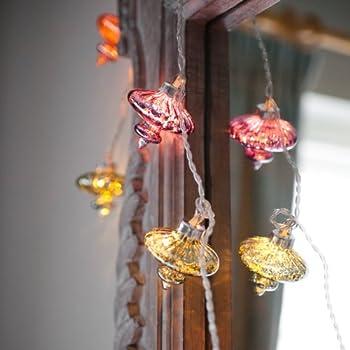 Fairy Lights - Kasbah Glass Lanterns - 20 LED String Lights - Mains Powered - ThinkGadgets - Transformer Supplied