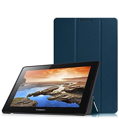 Fintie Lenovo A10-70 SlimShell Hülle Case Tasche Etui - Ultradünne Superleicht Ständer Schutzhülle Cover für Lenovo IdeaTab A10-70 25,7 cm (10,1 Zoll) Tablet, Marineblau
