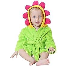 Bebé Albornoz con Capucha Toallas de baño Niños Niñas Pijama Ropa de Dormir Con Animal Diseño 0-24 Meses