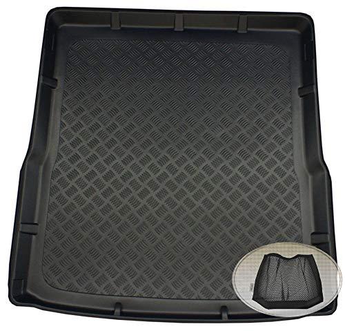 ZentimeX Z3353844 Geriffelte Kofferraumwanne fahrzeugspezifisch + Klett-Organizer (Laderaumwanne, Kofferraummatte)