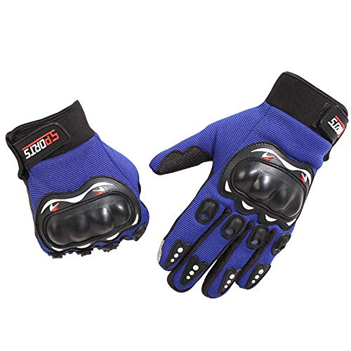Mashgn outdoor guanti tutti si riferiscono al motociclo equitazione alpinismo trekking caccia outdoor attrezzature sportive guanti,blue