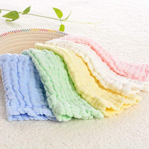 OUNONA OUNONA Baby Reine Baumwolle Sechs Lagen Gaze Handtuch rechteckig Spucktuch Weich saugfähig Gesicht Handtuch (gelb)