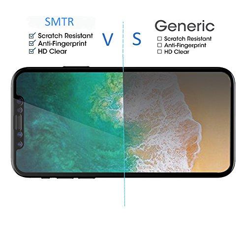 [2 Pack] Pellicola Protettiva IPhone X,SMTR® IPhone X Vetro Temperato Pellicola Protettiva Glass Screen,[resistant Scratch][Super chiaro][Facilità di installazione] Piena copertura 2.5D Pro Fit 0.33mm Transparent